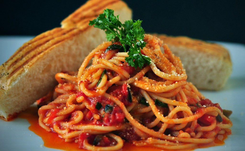 pasta, spaghetti, italian food