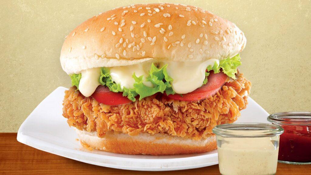 crispy chicken burger d´roma